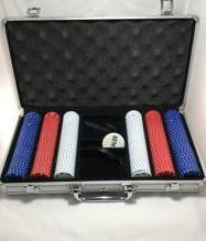 Professional Casino Poker Chips, Set of 300 Chips with Aluminum Carrying Case