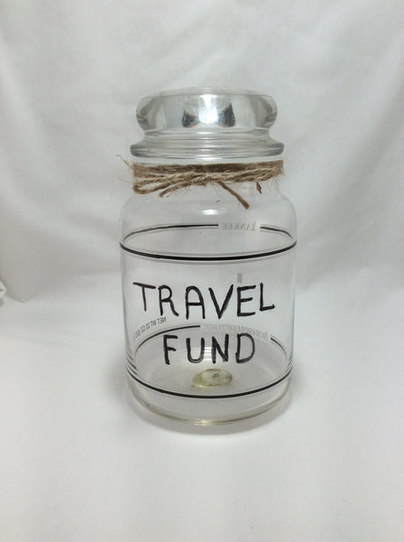 Adventure Travel Funds Jar Handmade