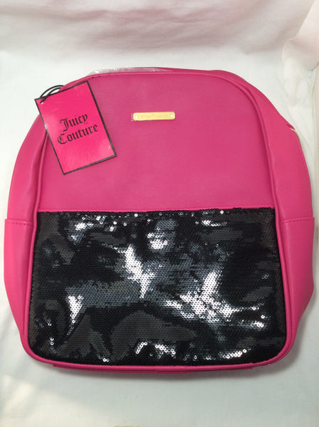 Juicy Couture Hot Pink Backpack with Black Sequins