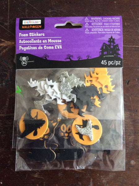 Creatology Halloween Foam Stickers Set of 45 Pieces