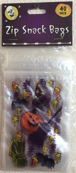 Halloween Zip Lock Treat Bags