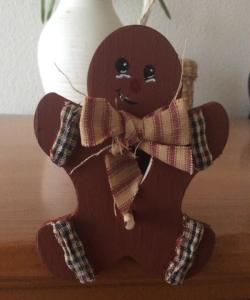 Gingerbread Man Primitive Decor Christmas Ornament