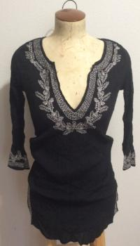 Old Navy Women's Summer Blouse Black Paisley