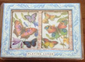Punch Studio Playing Cards Colorful Butterflies 2 Decks #57717