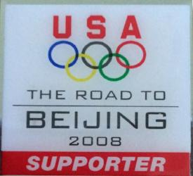 Beijing 2008 Olympics Pin U.S.A Supporter Pin