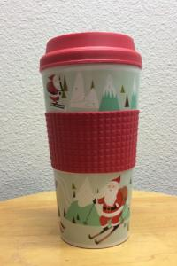 Holiday Travel Mug with Grip Sleeve 16 oz Insulated