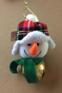 Christmas Jingle Bell Plush Ornament