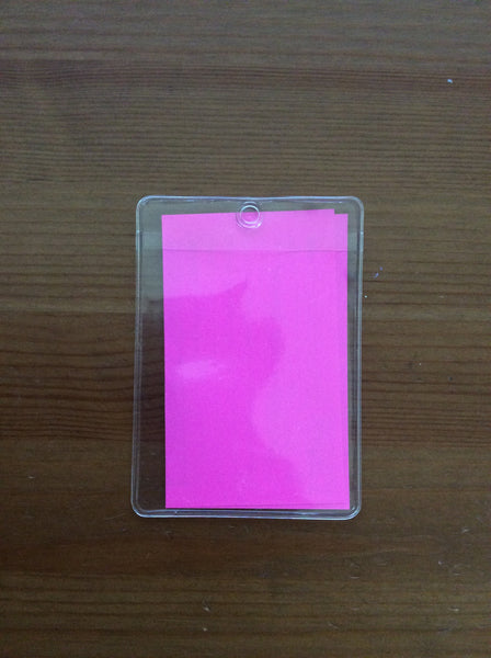 Vertical Transparent Plastic Clear ID Card Badge Holder