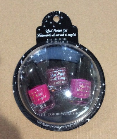 Markwins Pink Nail Polish 3pc Set