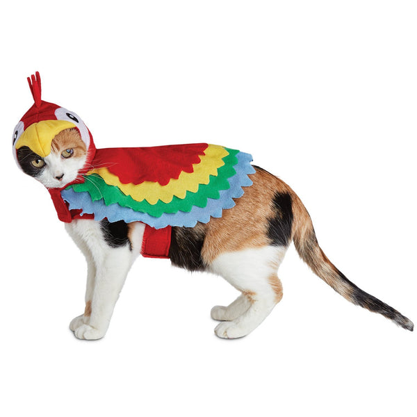 Bootique Polly Parrot Cat Costume, One Size Fits Most, Also For Dogs