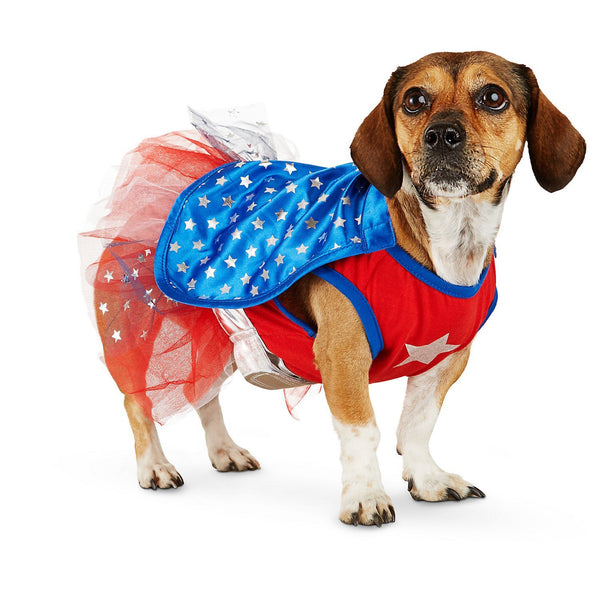 Halloween Bootique Superhero Girl Dog Costume, Large