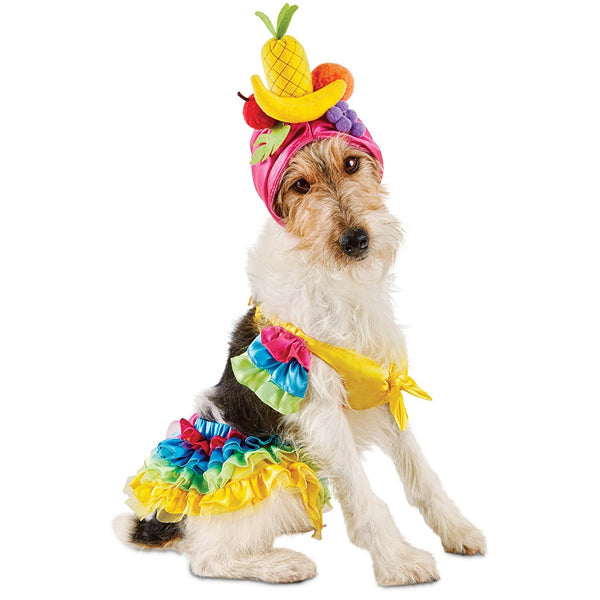 Bootique Carnival Pet Costume, Dog or Cat Costume, Small Tropical Girl