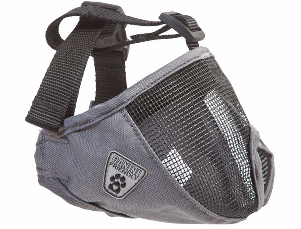 Canine Friendly Short Snout Dog Muzzle, Small, Charcoal (Dark Grey)