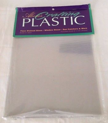 "Aleene's Crafting Plastic, 9"" x 12"" Sheets, Set of 3"
