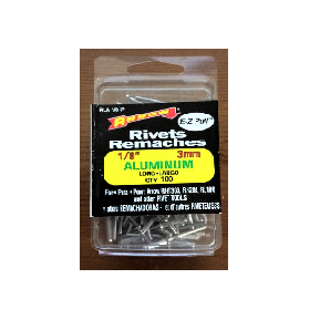 "Arrow E-Z Pull Rivets Rematches 1/8"" (3mm) Aluminum, Pack of 100"