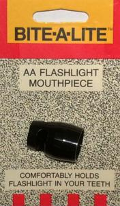Bite-A-Lite / mouthpiece, for Aluminum Flashlights
