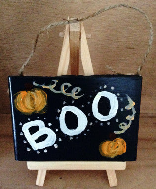 Halloween Boo Decorative Tile - Handmade