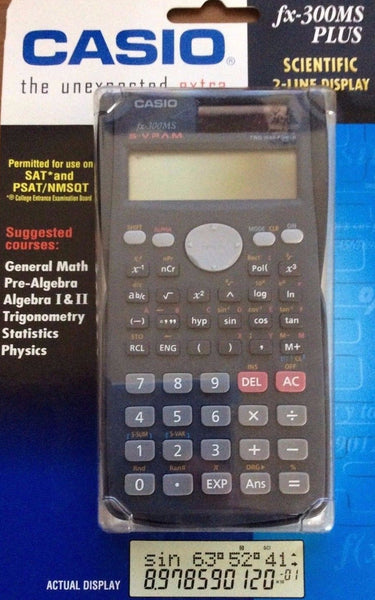 Casio Scientific Calculator, Fx-300MS Plus, Scientific 2-Line Display