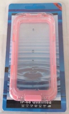 CellBee Universal Waterproof Heavy Duty Crystal Case for Iphone 5/5S/5C Pink