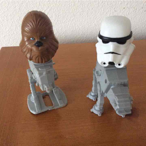 Star Wars Chewbacca & Storm Trooper Bobbleheads