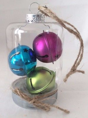 Christmas Tree in a Jar Ornament, Small Mason Jar Ornament, Mason Jar Ornaments