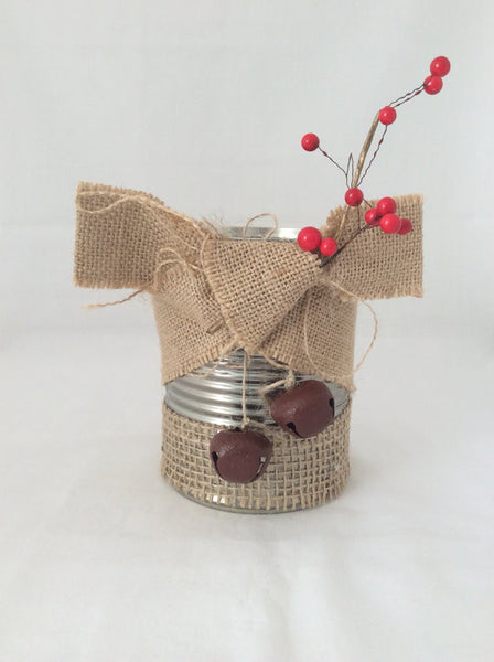 Christmas Tin Candle Holder