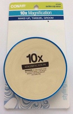 Conair Suction Cup Mirror 10x Magnification