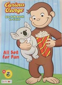 Curious George Big Fun Book to Color