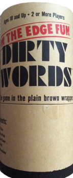 Dirty Words On The Edge Fun The Game In The Plain Brown Wrapper