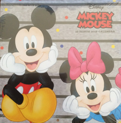 Disney Mickey Mouse 12-Month 2018 Calendar