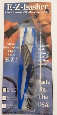 E-Z Lasher for Putting Eyelashes on Doll & Teddy Bear with 12-14 mm Eyes