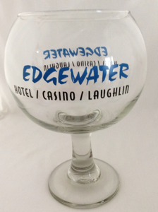 Edgewater Hotel & Casino Large Souvenir Margarita Glass Laughlin, Nevada