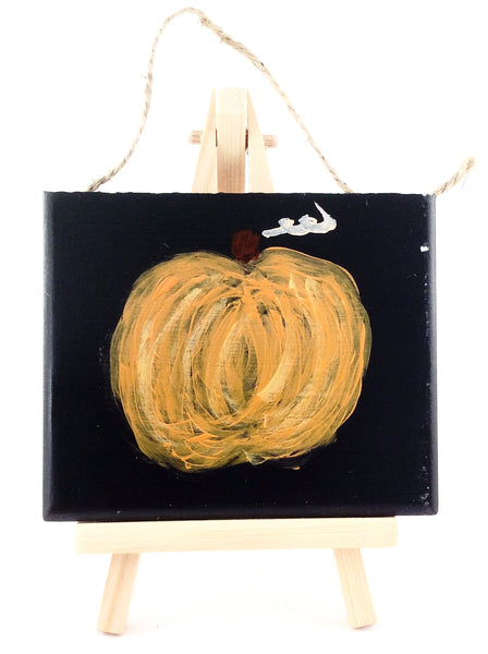 Fall Pumpkin Decorative Tile - Handpainted