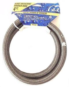 GE Burst Resistant Washer Hose 4ft., For All Brands of Washers, PM14X90 - NEW