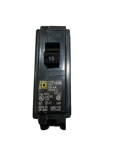 Homeline 15 Amp Single-Pole Circuit Breaker Square D