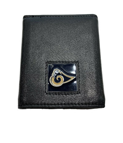 NFL Los Angeles Rams Men's Leather Tri-fold Wallet