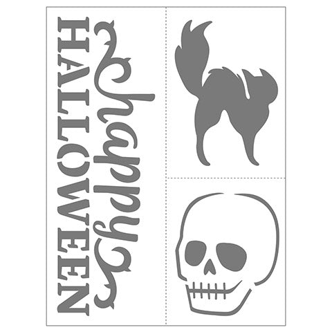 Halloween Small 6x8 Adhesive Stencils 6 pack