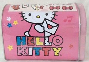 Hello Kitty Pink Tin Mailbox by Sanrio with 24 Valentine Stickers