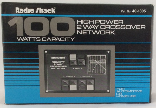 RadioShack High Power 2 Way Crossover Network 100 Watts Capacity #40-1305