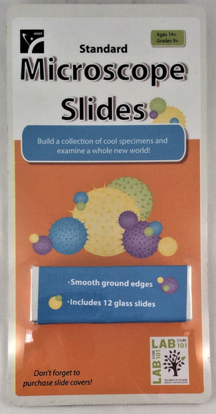 Standard Microscope Slides - Set of 12