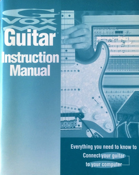 G-VOX Guitar Instruction Manual (replacement)