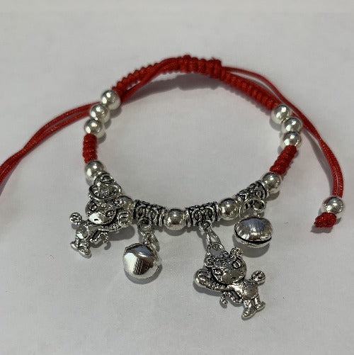 Chinese Zodiac Signs Pendant Red String Bracelet - Tiger