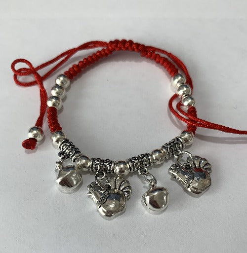 Chinese Zodiac Signs Pendant Red String Bracelet - Rooster