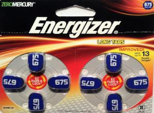 Energizer Hearing Aid Batteries #675 - 8 Pk