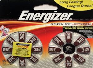 Hearing Aid Batteries #312 - 16 Pk