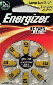Energizer Hearing Aid Batteries #10 - 8 Pk