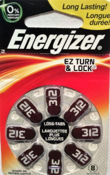 Energizer Hearing Aid Batteries #312 - 8 Pk