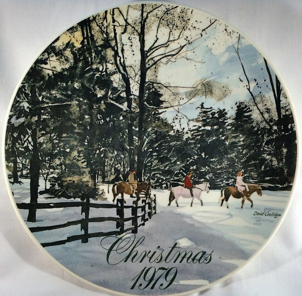 Smucker's Collector Plates - Christmas 1979