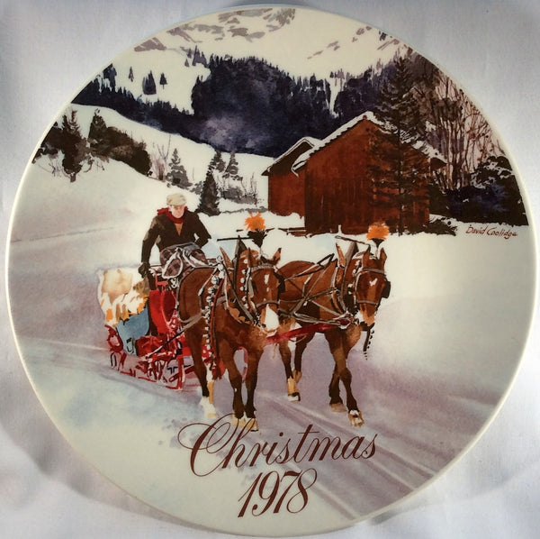 Smucker's Collector Plates - Christmas 1978