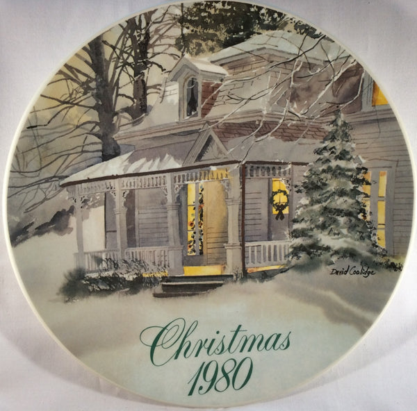 Smucker's Collector Plates - Christmas 1980